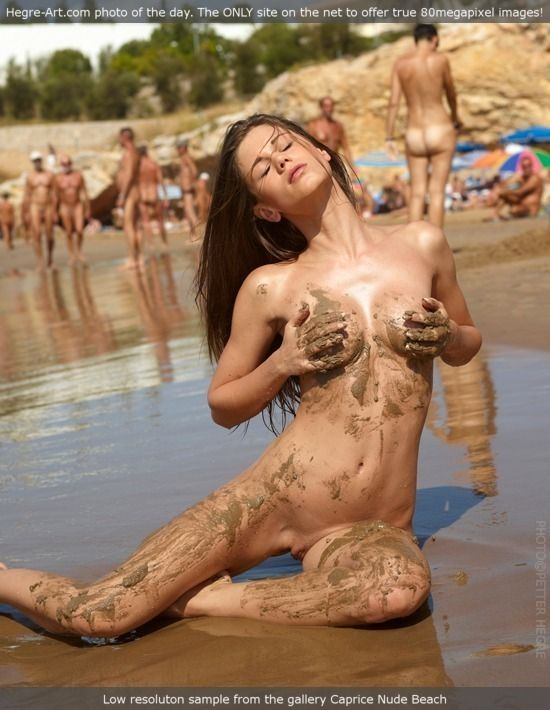 Caprice at nude beach