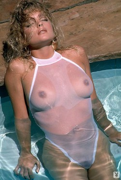 Erika Eleniak in Playboy pool
