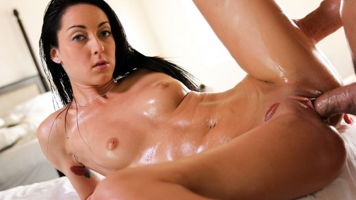 Sabrina Banks oiled up sex