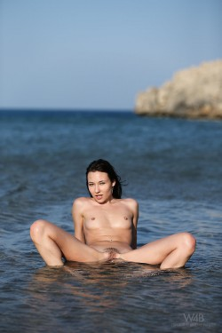 Lila enjoying the sea