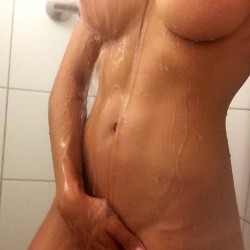 Amia Miley in shower