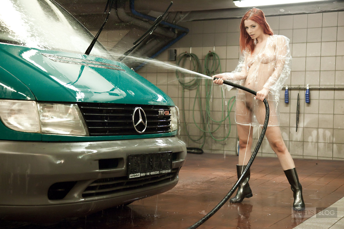Bikini Car Girl In Washing